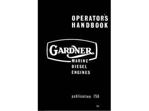Gardner Marine Diesel Engines Instruction Book