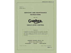 Single Lever Control Maintenance Manual