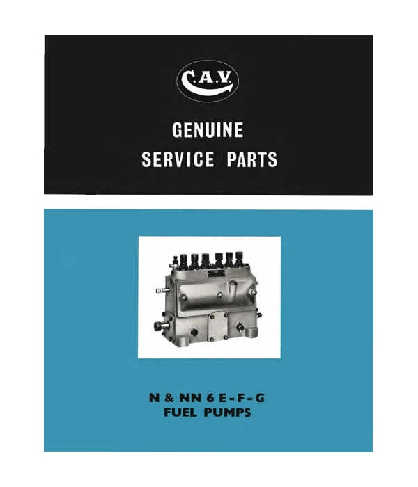 N & NN 6 E,F & G Inj Pump Parts Manual